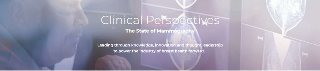 Web banner as part of B2B marketing that establishes Solis as leading innovator in mammography and women's health.