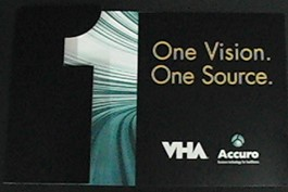 """Ad establishing brand equity as """"One Vision, One Source"""" for healthcare technologies and solutions."""