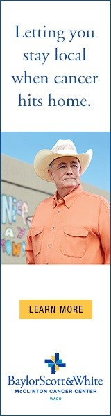 Banner ad appealing to Texans featuring man in cowboy hat as part of TPG digital advertising campaign.