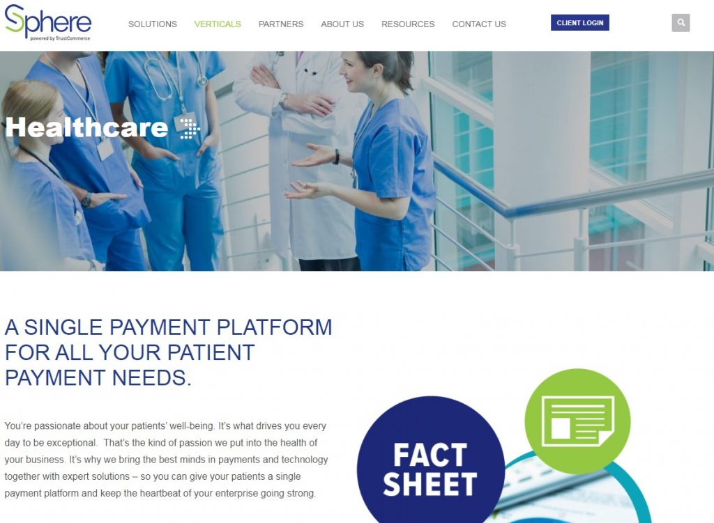 Sphere Financial Services' website reflecting branding changes that helped position the company as a trusted leader.