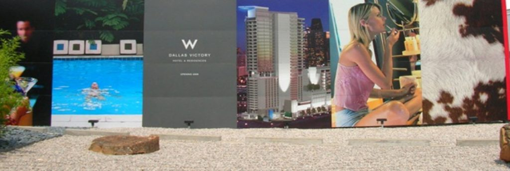 Real estate marketing brochures and other collateral.